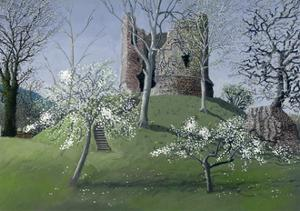 Longtown Castle, 1992 by Huw S. Parsons