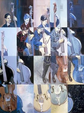 Paula Gardiner, Jazz Bassist, 1998 by Huw S. Parsons