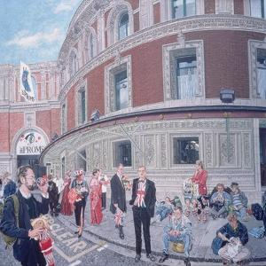 Promenaders at the Last Night, Royal Albert Hall, Detail by Huw S. Parsons