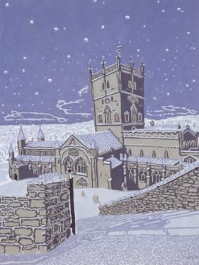 St. David's Cathedral in the Snow, 1996 by Huw S. Parsons