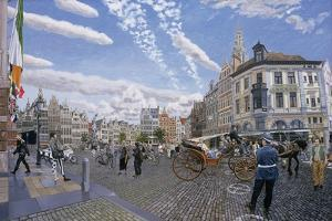 The Great Market Square in Antwerp, 1996 by Huw S. Parsons