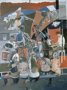 The Jazz Quartet, 1994 by Huw S. Parsons