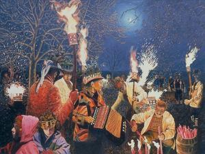 Wassailing in Herefordshire, 1995 by Huw S. Parsons