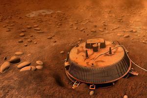 Huygens Probe on Titan Space Poster Print