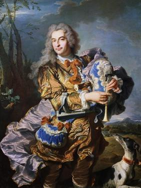 Gaspard De Gueidan Playing Bagpipes, Ca 1735 by Hyacinthe Rigaud