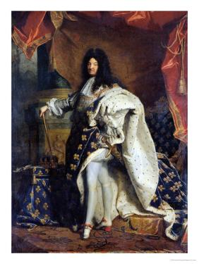 Louis XIV (1638-1715) in Royal Costume, 1701 by Hyacinthe Rigaud