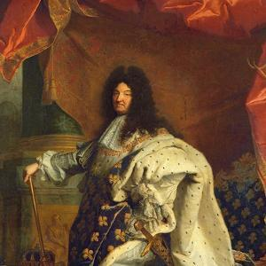 Louis XIV in Royal Costume, 1701 (Detail) by Hyacinthe Rigaud