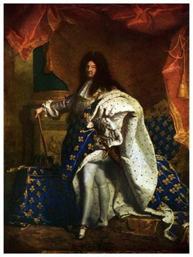 Louis XIV, King of France, 1701 by Hyacinthe Rigaud