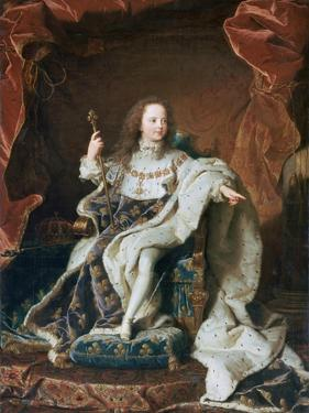 Louis XV at the Age of Five, C1715 by Hyacinthe Rigaud