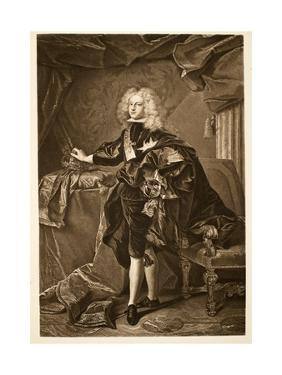 Philip V King of Spain C.1700, Pub. 1902 by Hyacinthe Rigaud