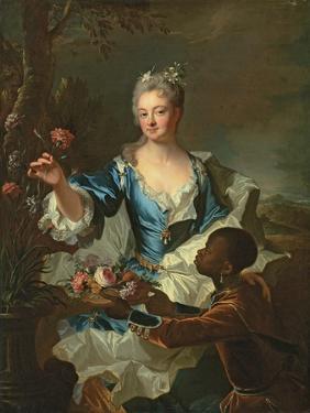 Portrait of Hyacinthe-Sophie De Beschanel-Nointel, Marquise De Louville by Hyacinthe Rigaud