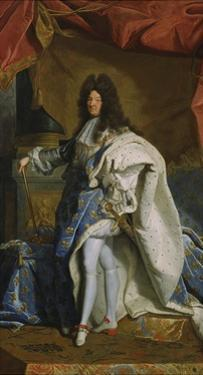 Portrait of Louis XIV, 1701 by Hyacinthe Rigaud