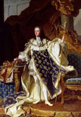 Portrait of Louis XV (1715-74) in His Coronation Robes, 1730 by Hyacinthe Rigaud