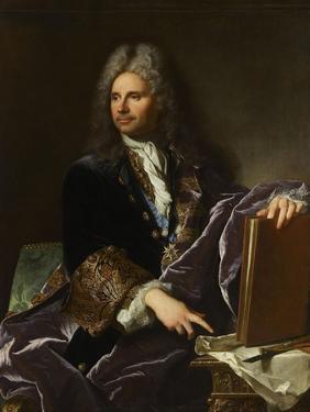 Robert de Cotte (1657-1735), premier architecte du roi by Hyacinthe Rigaud