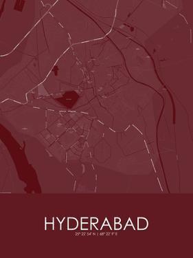 Hyderabad, Pakistan Red Map