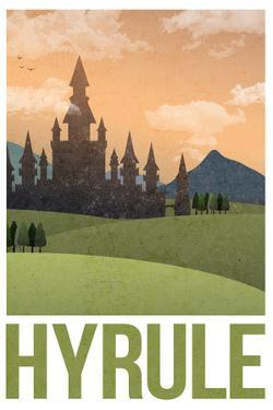 Hyrule Retro Travel Plastic Sign