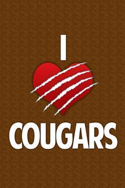 I Heart Cougars Humor Print Poster