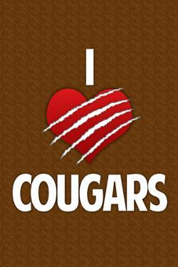 I Heart Cougars Humor Print Poster