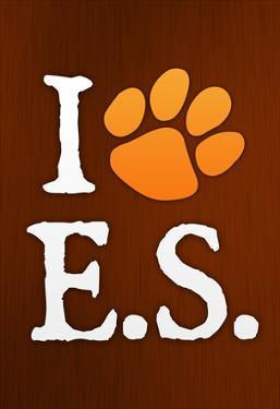 I Heart E.S. Paw-Print Music Poster