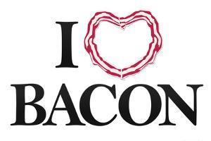 I Heart Love Bacon Poster