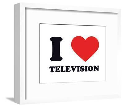 I Heart Television--Framed Giclee Print