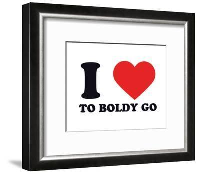 I Heart to Boldly Go--Framed Giclee Print