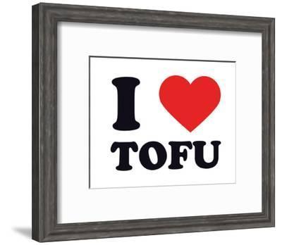 I Heart Tofu--Framed Giclee Print