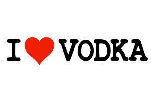 I Heart Vodka College Humor Plastic Sign