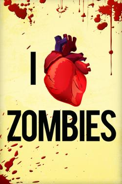 I Heart Zombies Art Poster Print