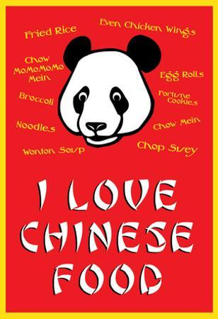 I Love Chinese Food Humor Poster