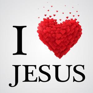 I Love Jesus Heart Graphic