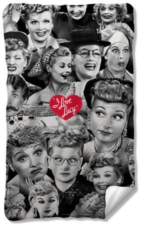 I Love Lucy - Faces Fleece Blanket