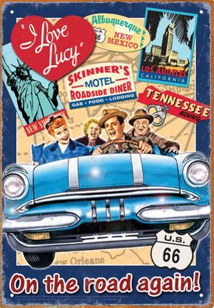 I Love Lucy Road Trip Tin Sign