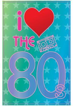 I Love the 80's (Heart) Art Poster Print