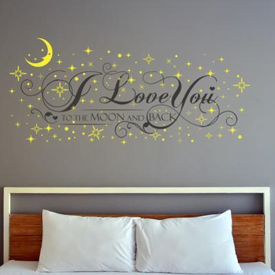 I Love You Quote with Glow in Dark Stars