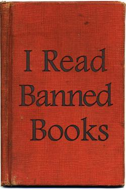 I Read Banned Books Plastic Sign