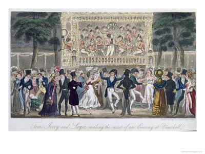 Tom, Jerry and Logic Making the Most of an Evening at Vauxhall, Life in London, Egan, 1821