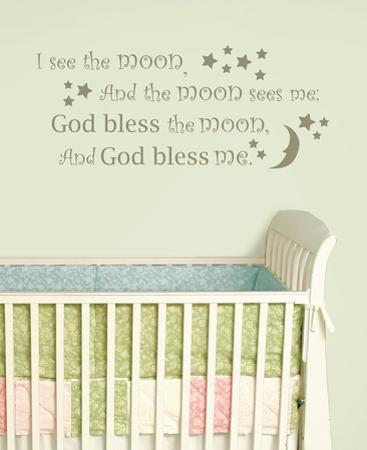 I See the Moon Wall Wish Decal Sticker