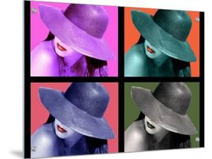 Four Views of Woman Wearing Wide-Brimmed Hat by I.W.