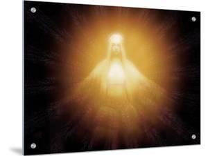 Madonna-Like Figure Shining with Mystic Light by I.W.