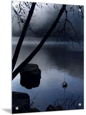 Mysterious Lake Scene by I.W.