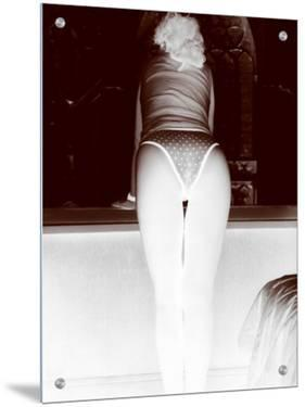 Negative Image of Woman in Underwear Looking Out Bedroom Window, Rear View by I.W.