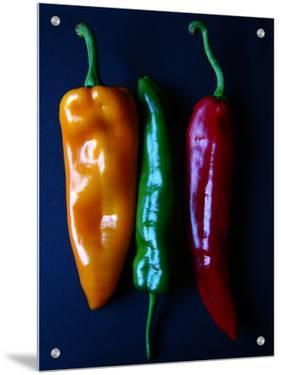 Peppers, Yellow, Green and Red, Side by Side by I.W.