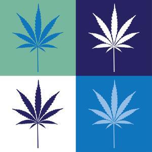 Four Cannabis Leaf Illustration by i3alda