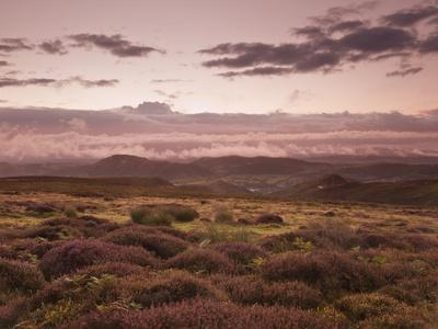 Dawn Above the Clouds on the Long Mynd Near Church Stretton, Shropshire, England, UK, Europe