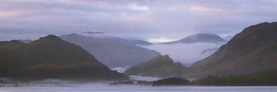 Misty Morning over Derwentwater, Borrowdale Valley, Lake District Nat'l Pk, Cumbria, England, UK