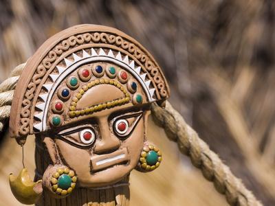 Traditional Inca Decorative Pottery, Lake Titicaca, Puno, Peru, South America