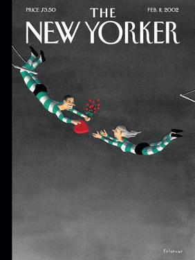 The New Yorker Cover - February 11, 2002 by Ian Falconer