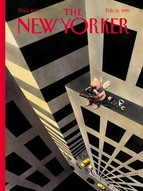 The New Yorker Cover - February 15, 1999 by Ian Falconer