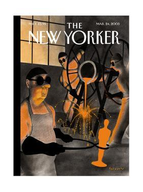 The New Yorker Cover - March 24, 2003 by Ian Falconer